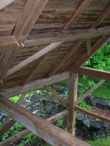 Interior of Roof Structure on Vintage Timber frame