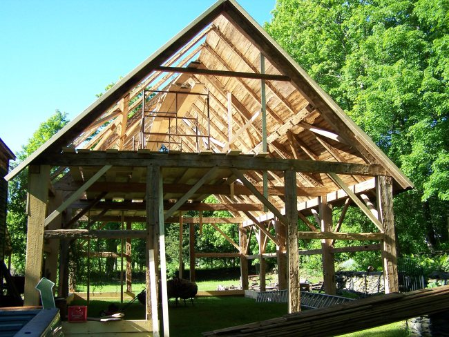 Vermont Timber Frame Restored