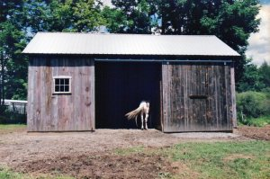 Horse Barn Restored by Green Mountain Timber Framers