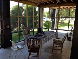 Inside the Timber Frame home - katrina