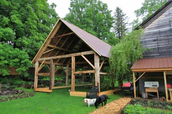 Roof on Old Restored Timber Frame