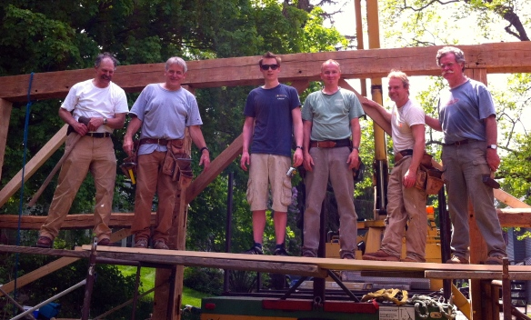 The happy timber frame crew