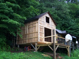 TImber Frame Corn Crib