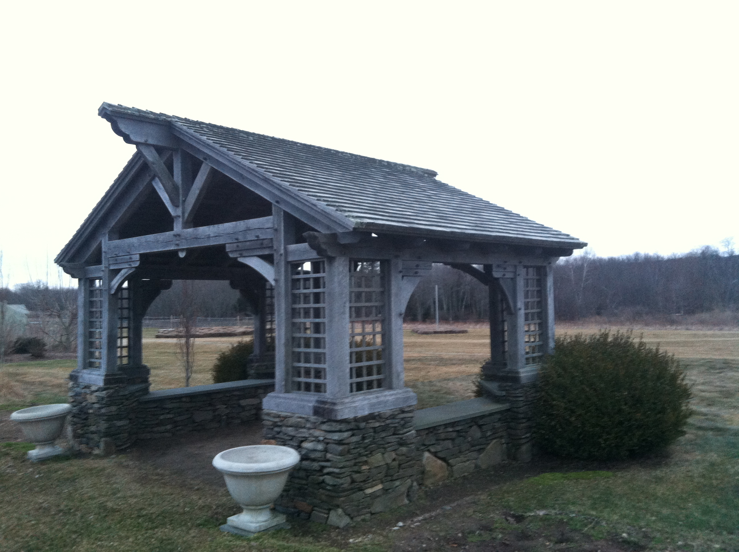 The Timber Frame Gazebo Green Mountain Timber Frames