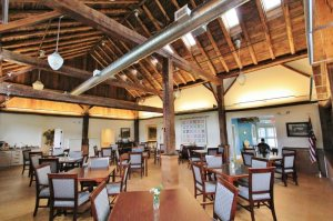 Dining Hall from restored Timber Frame