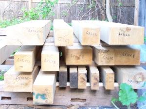 White Oak Timbers for Vermont Timber Frame Gazebo
