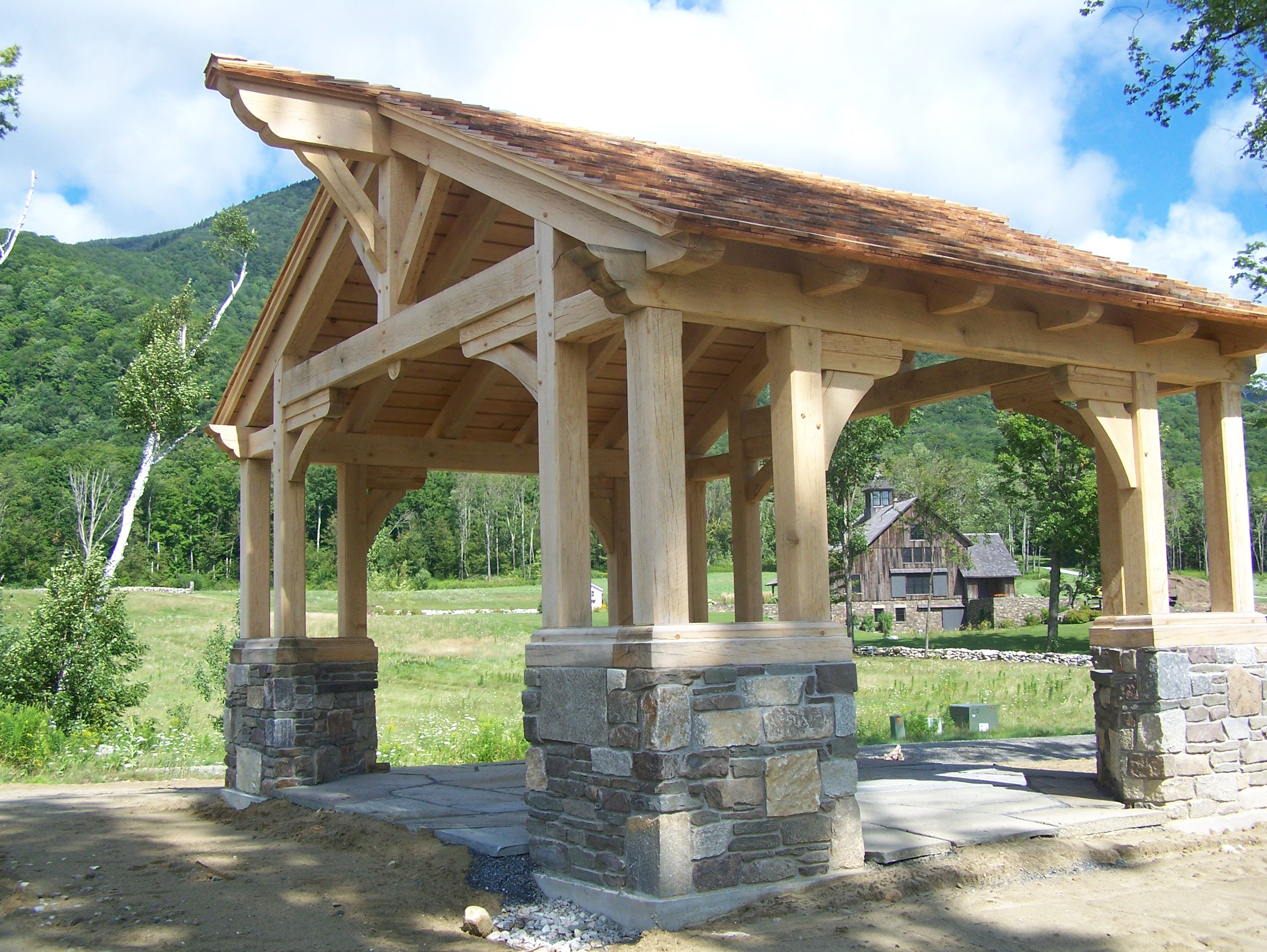 Greene and Greene Gazebo Gets a Facelift | Green Mountain Timber ...