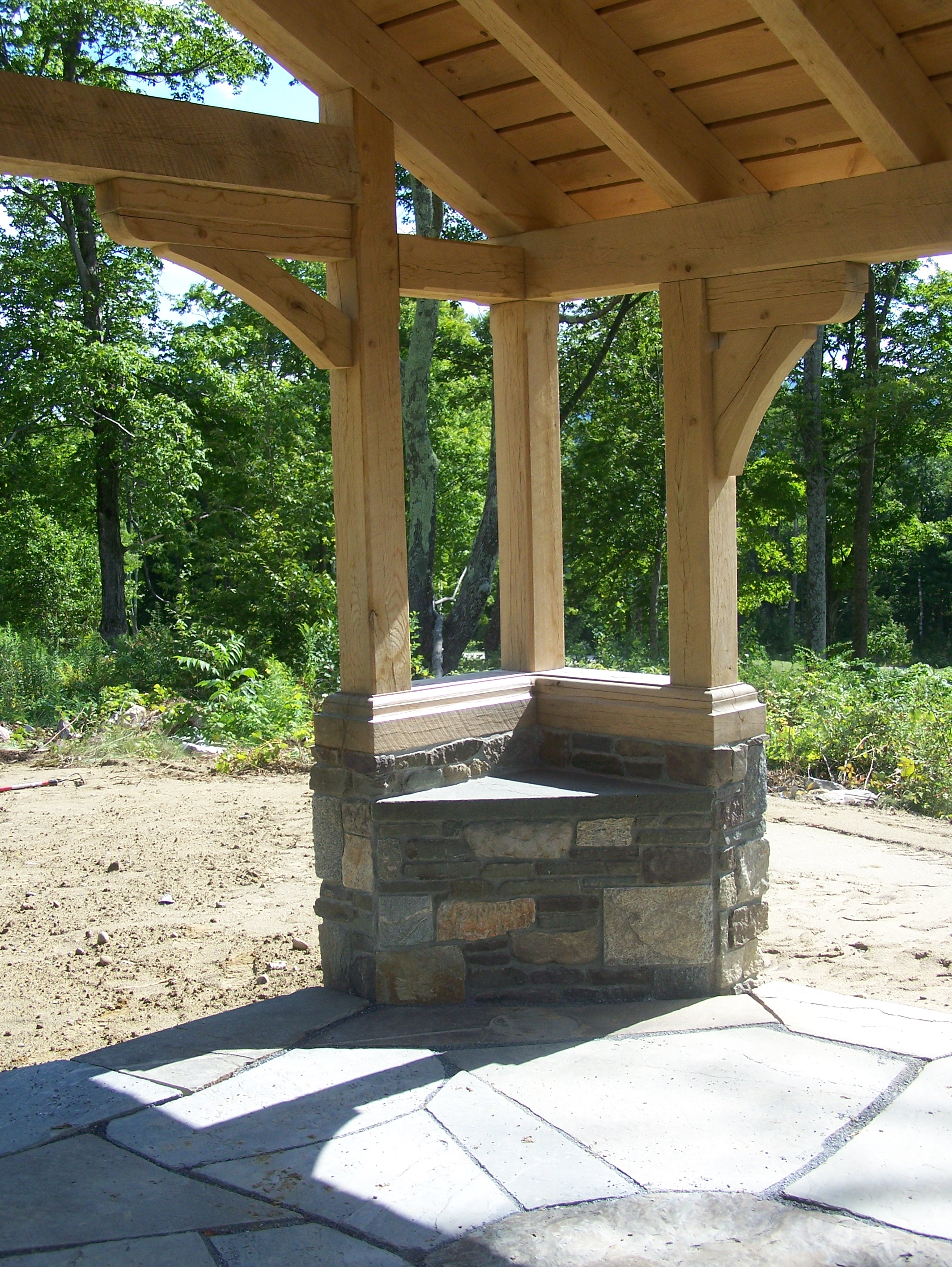 Gazebo green mountain timber frames middletown springs for Post and beam construction plans