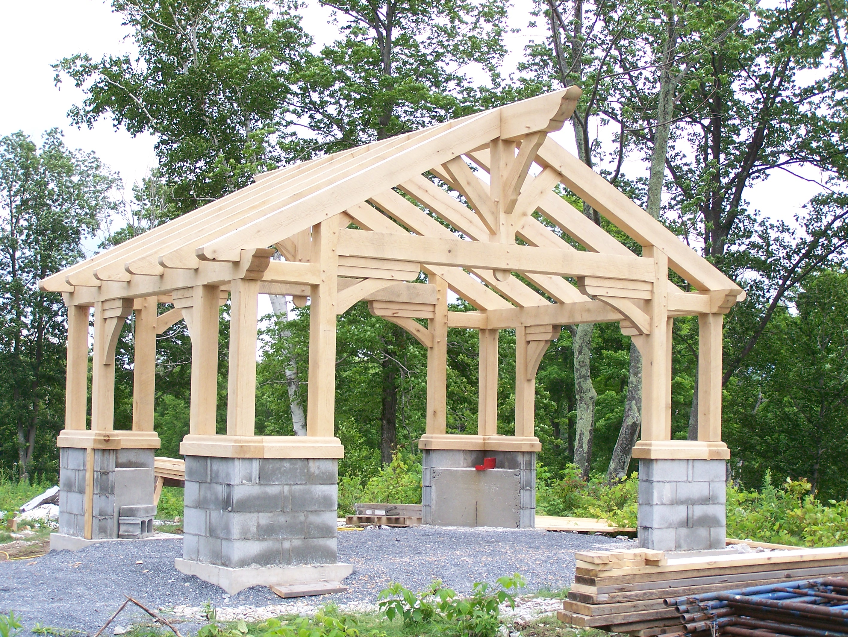 Gazebo green mountain timber frames middletown springs for How to build a timber frame house