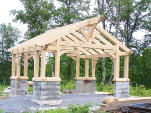 Timber Frame Builders in Vermont Make Gazebo
