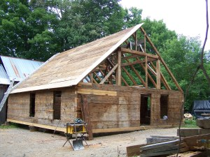 Nichols Timber Frame Log Home in Vermont