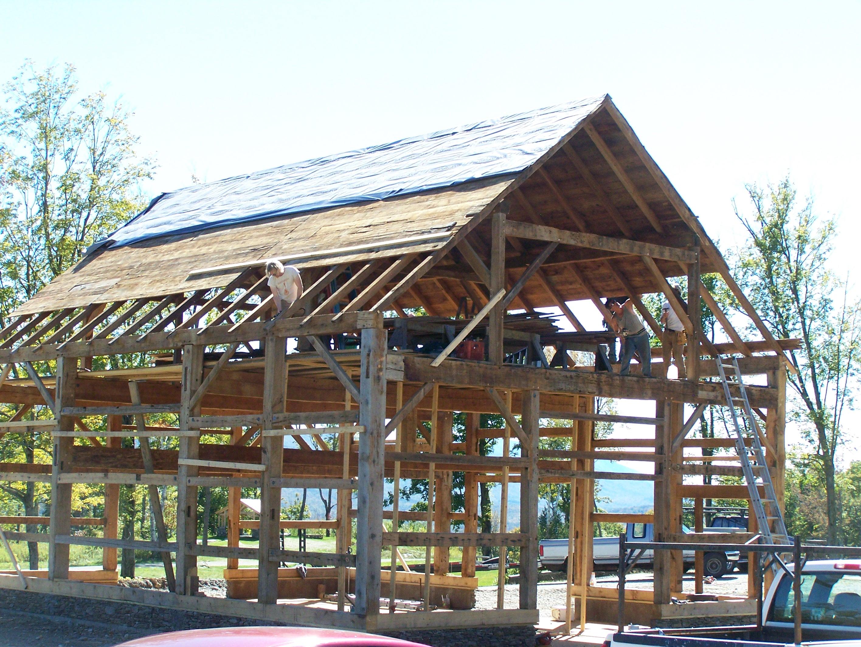 Saving Old Barns Green Mountain Timber Frames