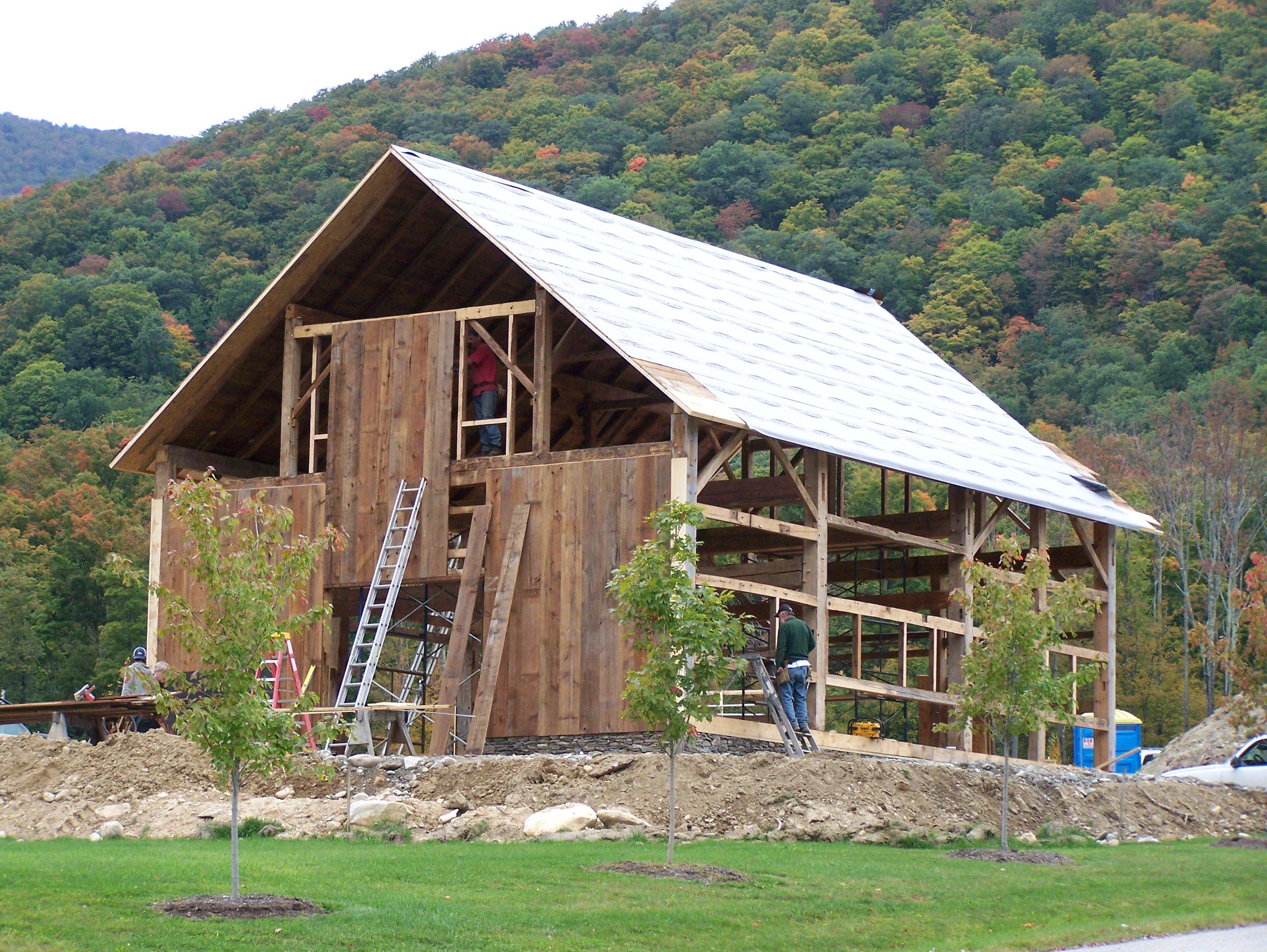 Timber Frame Barn Green Mountain Timber Frames
