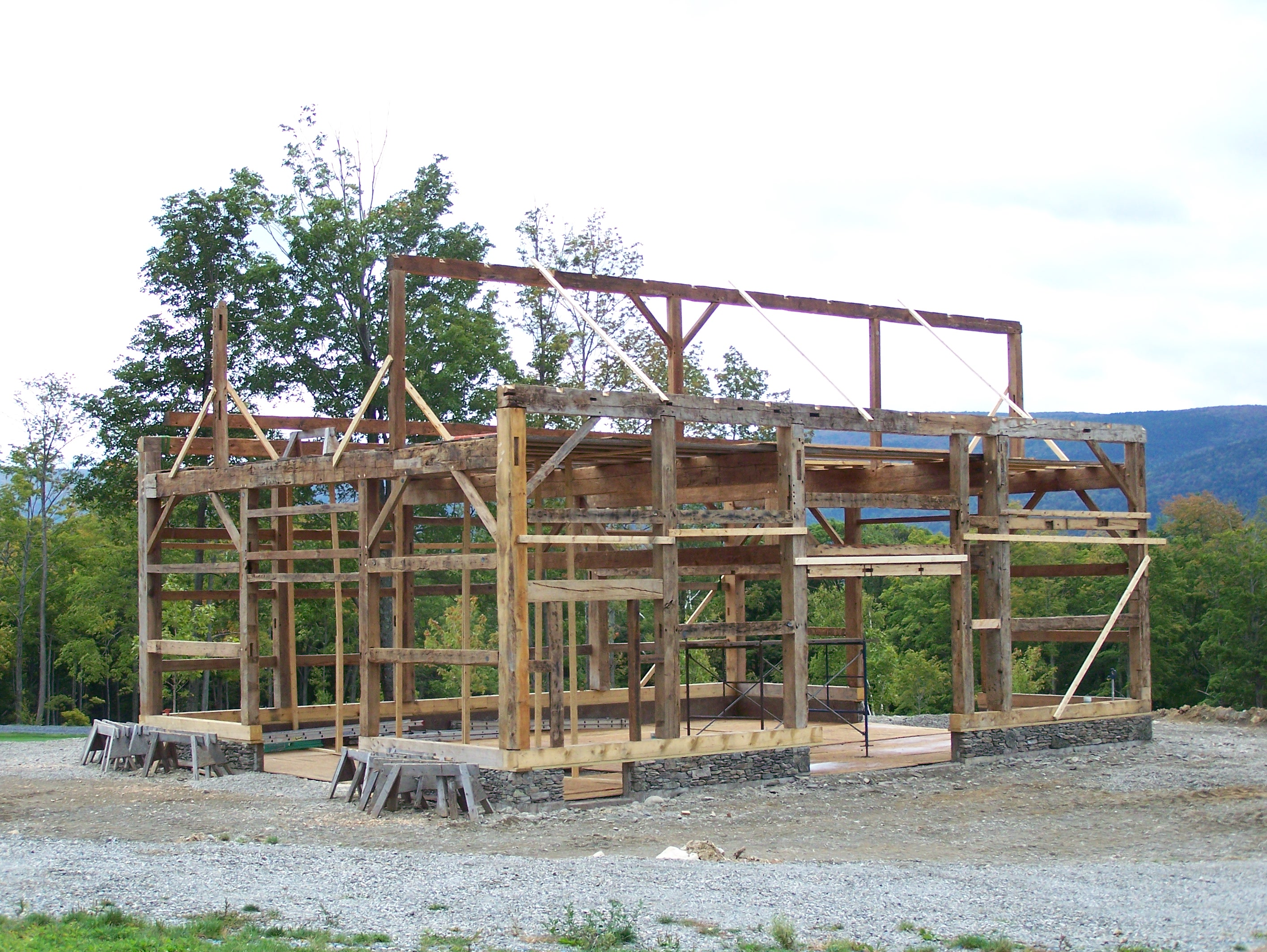 timber frame barn | Green Mountain Timber Frames Middletown Springs ...