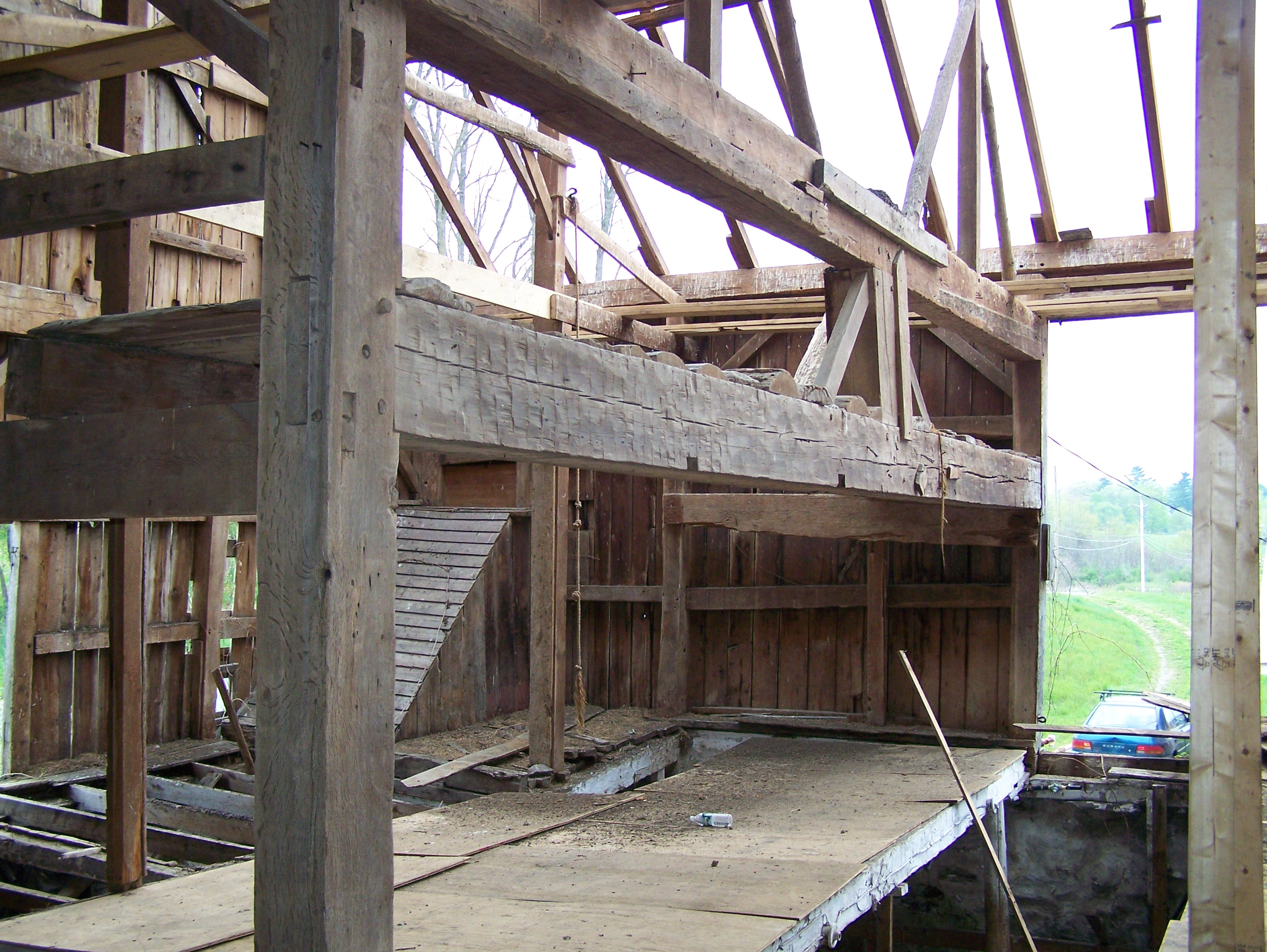 Saving Old Barns Green Mountain Timber Frames Middletown