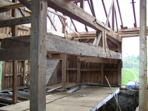Restoring historic timber frame