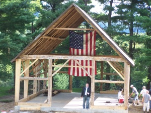 Vermont Historic Barn Raising