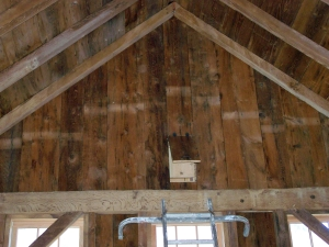 Bird Box in Restored Timber Frame Barn Vermont