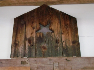 Star on Salvaged Wood New England Barn