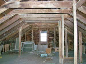 vintage post and beam barn