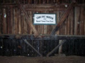 Fire damage on historic barn