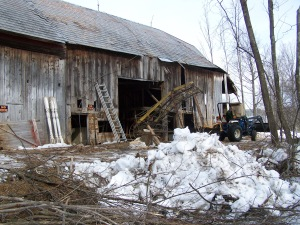 Antique Farm Equipment from Tmber Frame Old Barn
