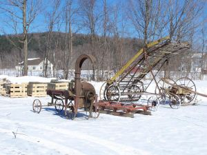 Farm Fleet from Old timber frame barn in Vermont