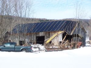 Historic Old Barn with Slate Roof Removed