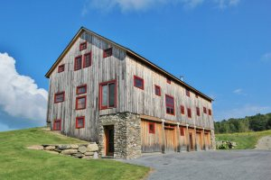 Timber frame Old Barn restored in Vermont