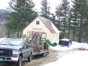 Moving antique timber frame for restoration