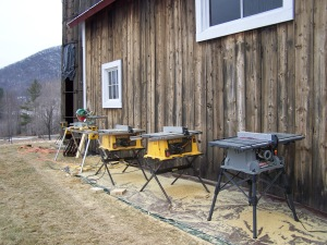Table saw for Vermont Historic Properties_Silo Project