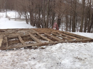 First Floor of Timber Frame with Upper Structure Down