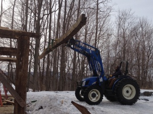 Removing Timber Beam for Frame Restoration