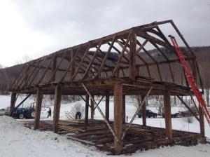 Timber Frame of Gambrel House