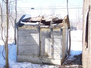 Vintage milk house before restoration