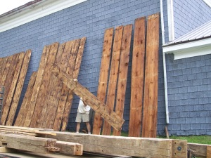 Drying vintage timber boards for restoration
