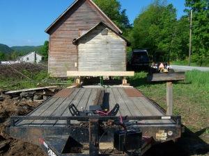 Moving the milk barn for restoration