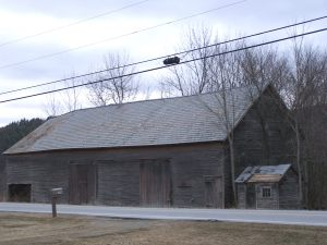 Colonial era barn with milk house