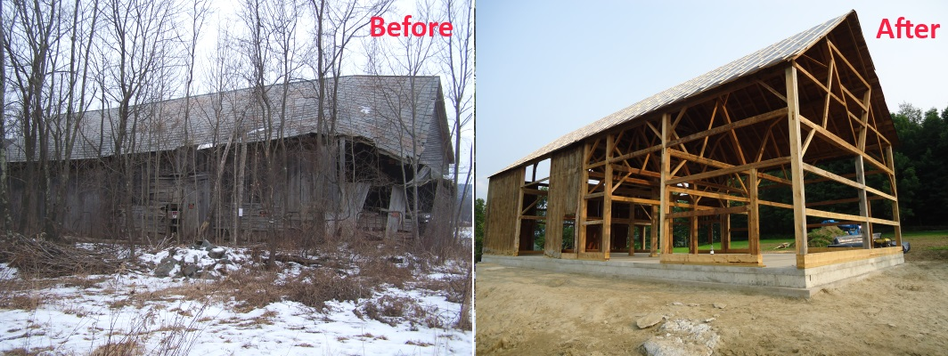 Before And After The Ira Barn Restoration Project A