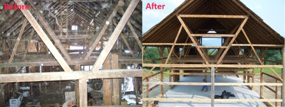 Gable End Shot Before and After