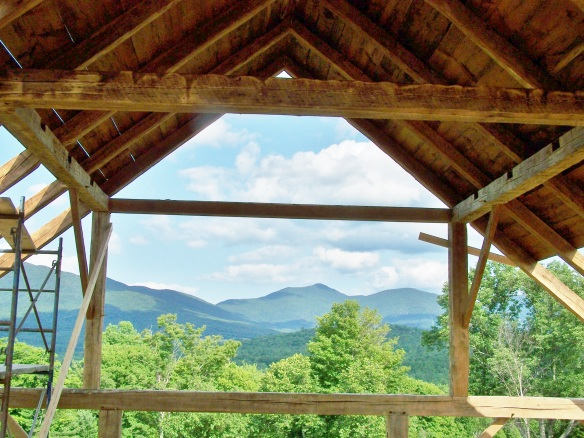 Historic Barn Restoration Vermont with Mount Mansfield