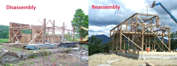 Reassembling Timber Frame Barn in Northern Vermont_after