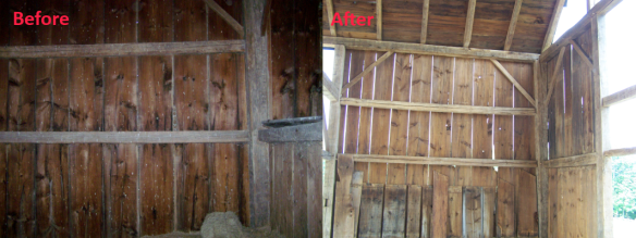 Timber Frame Beams Restored_After