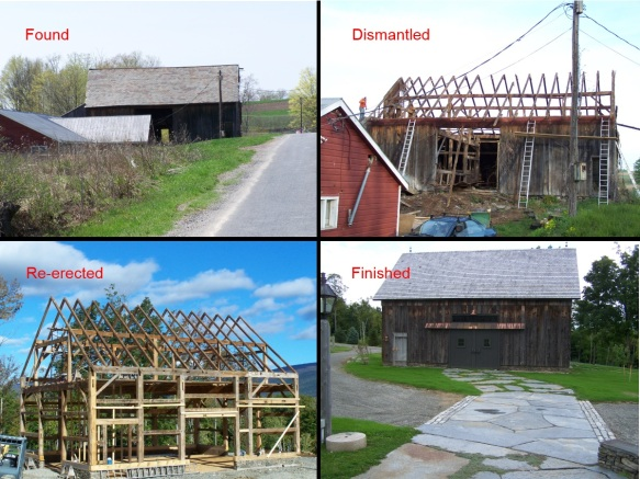 Manchester VT Timber Frame Restored Barn Process