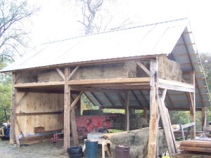 recycled siding for timber frame walls