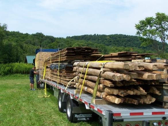 Vintage timbers in transit