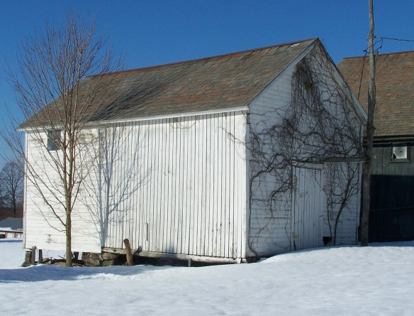 Hartford NY Historic timber frame corn crib