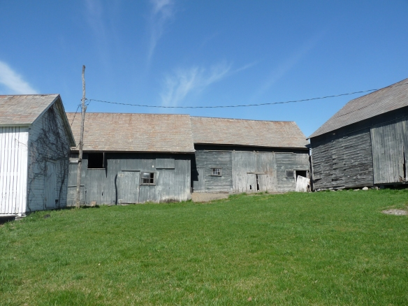 Three historic barns from Hartford, NY