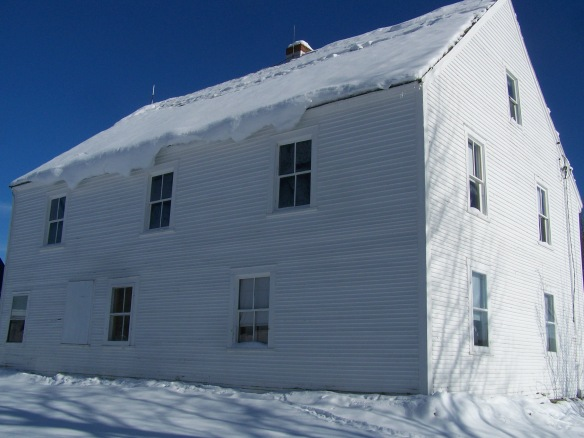 Historic Barn Home in snow