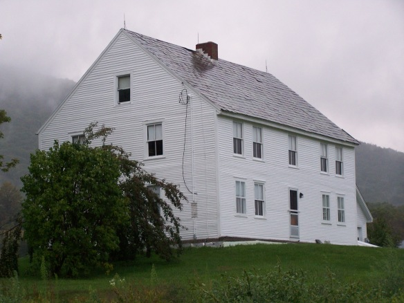 Side view of historic house
